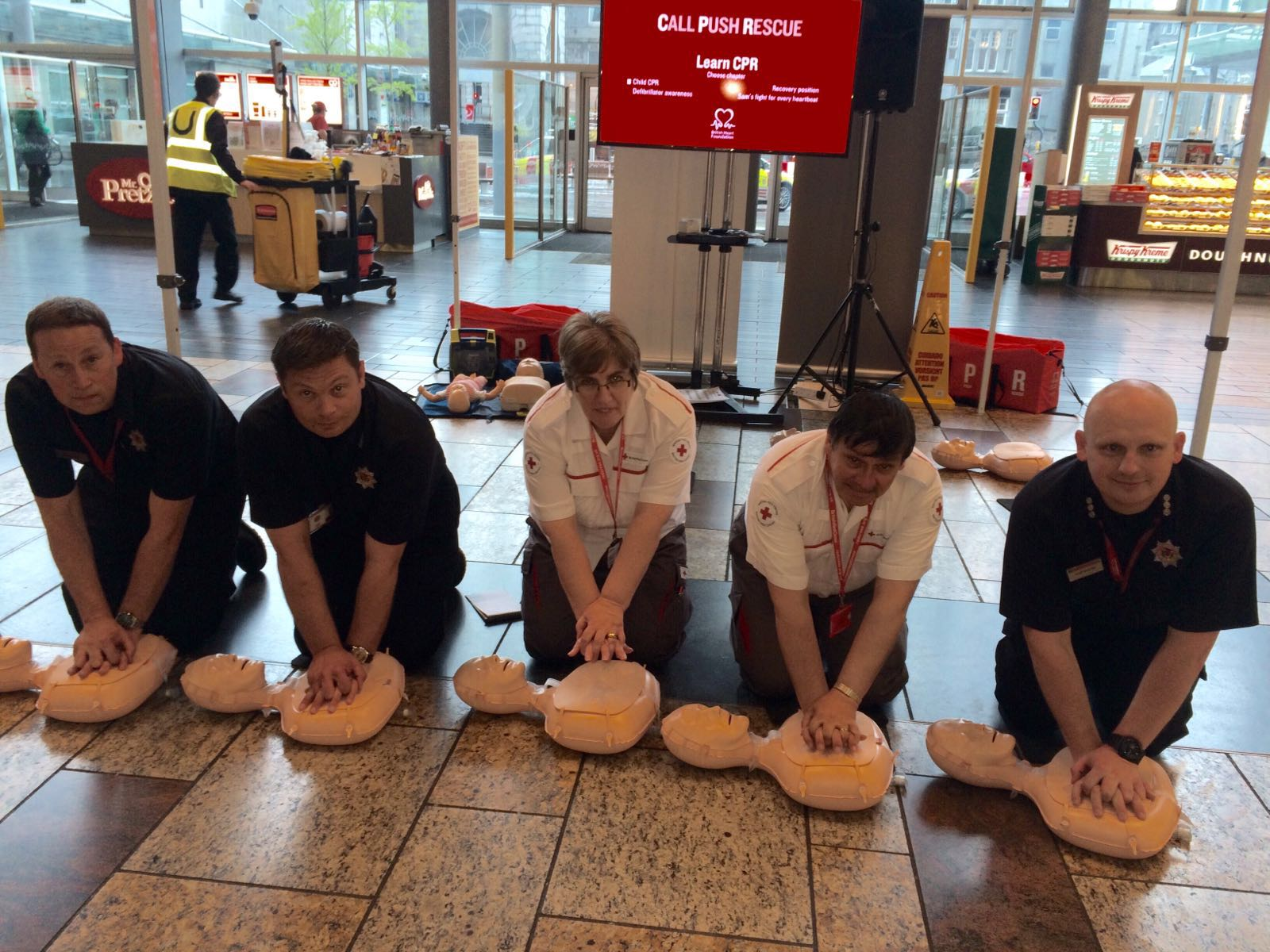 Aberdeen firefighters help train almost 350 potential lifesavers in CPR