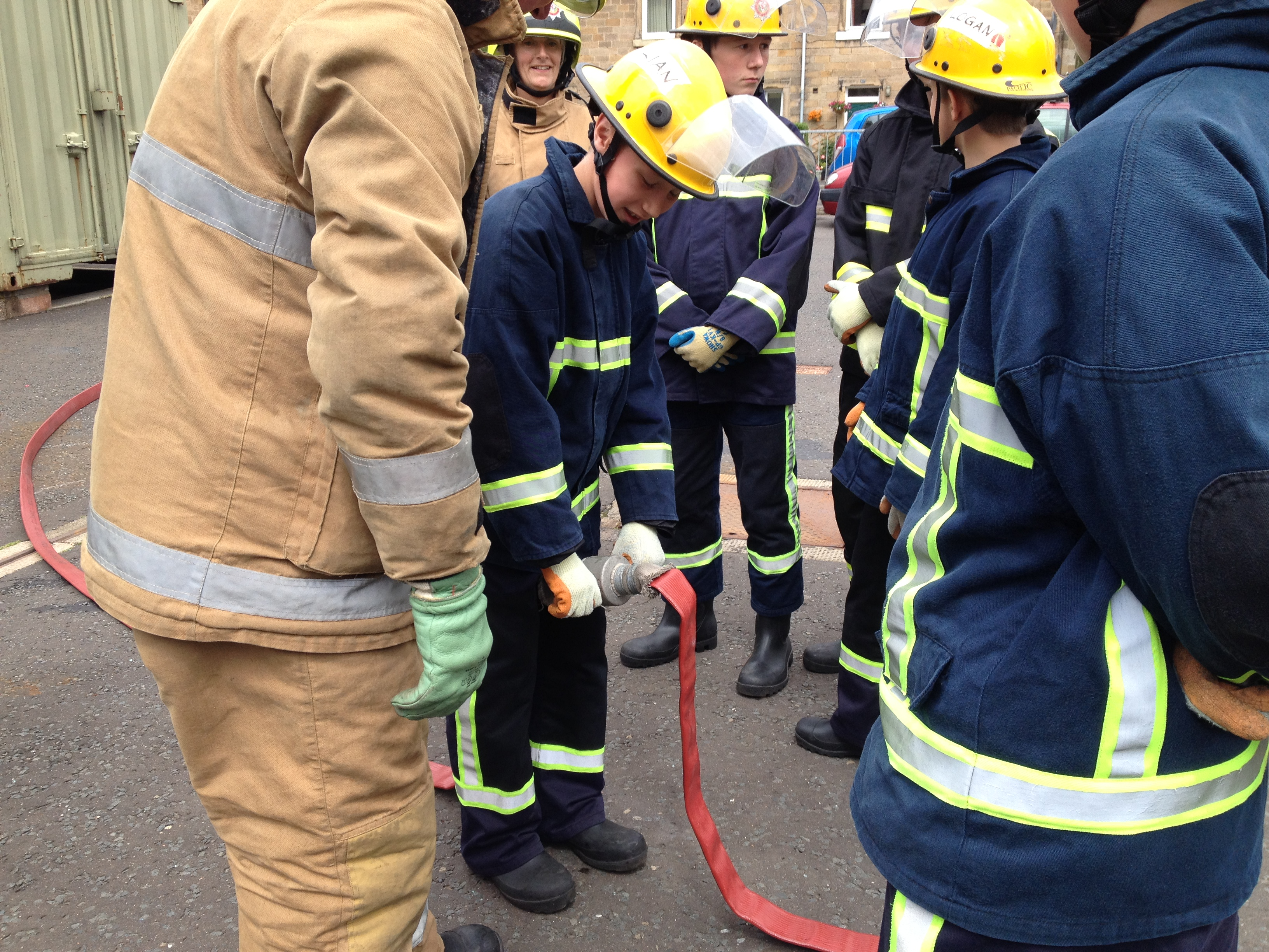 Firefighters in Galashiels take part in youth initiative