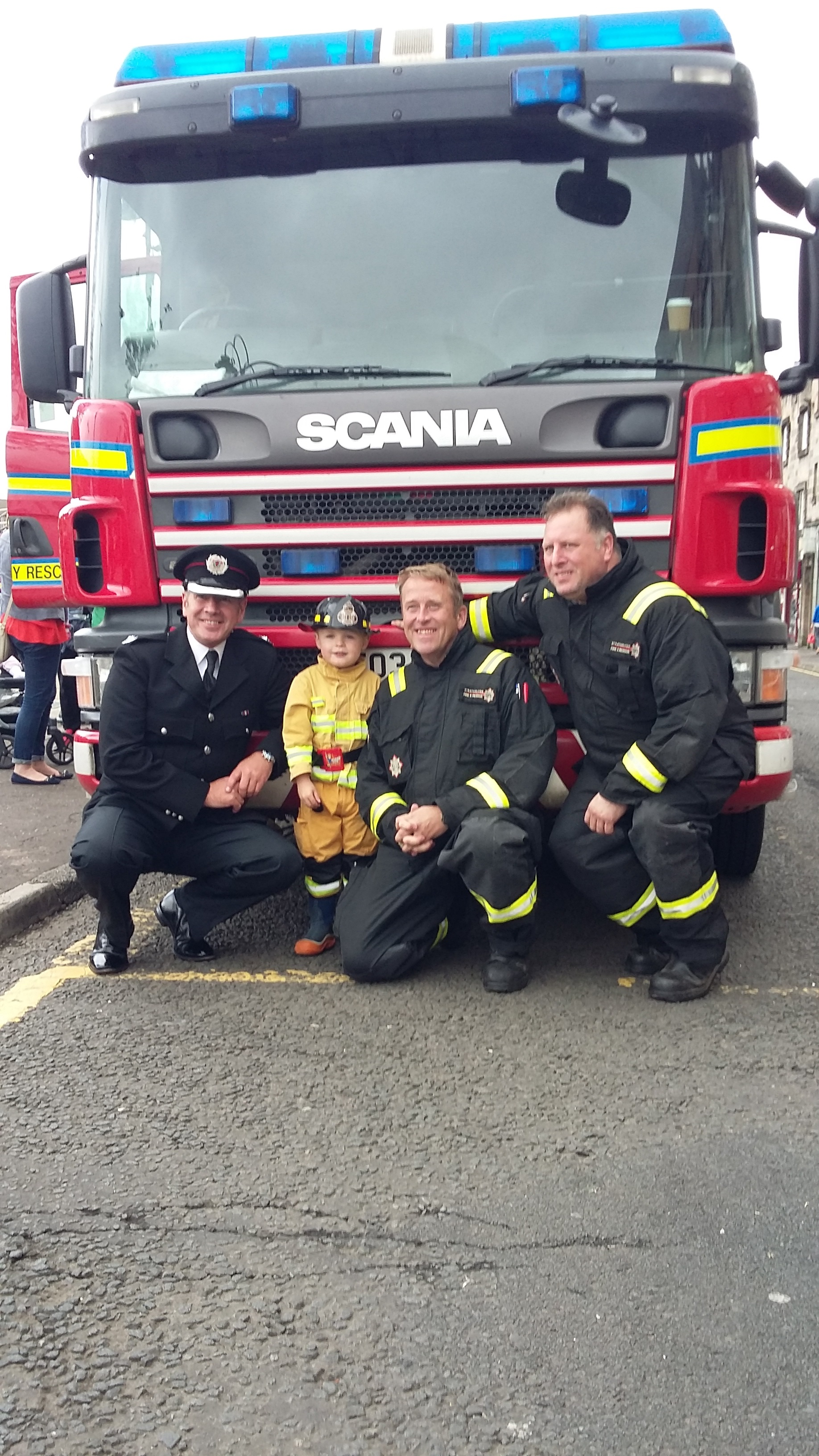 Fire engine rally in Renfrewshire went down a storm at the weekend