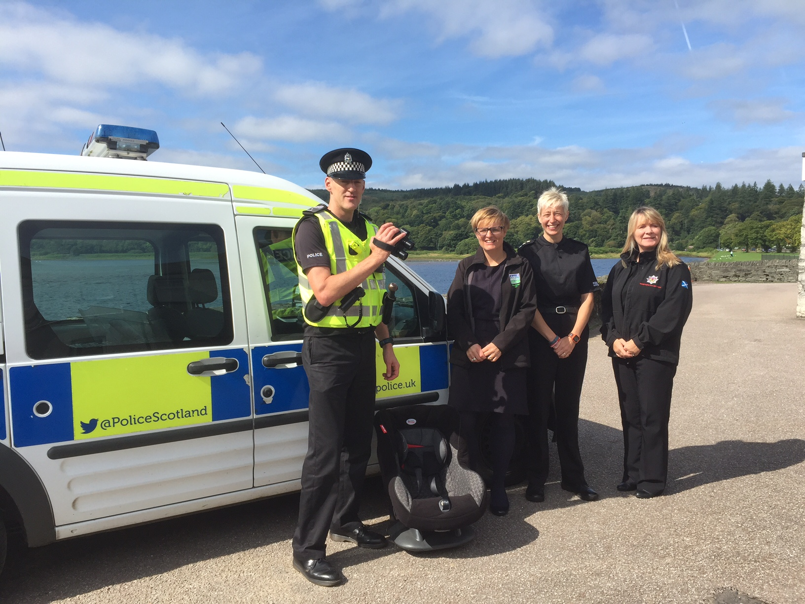 Fire service backing Police Scotland in rural road safety initiative in Argyll & Bute