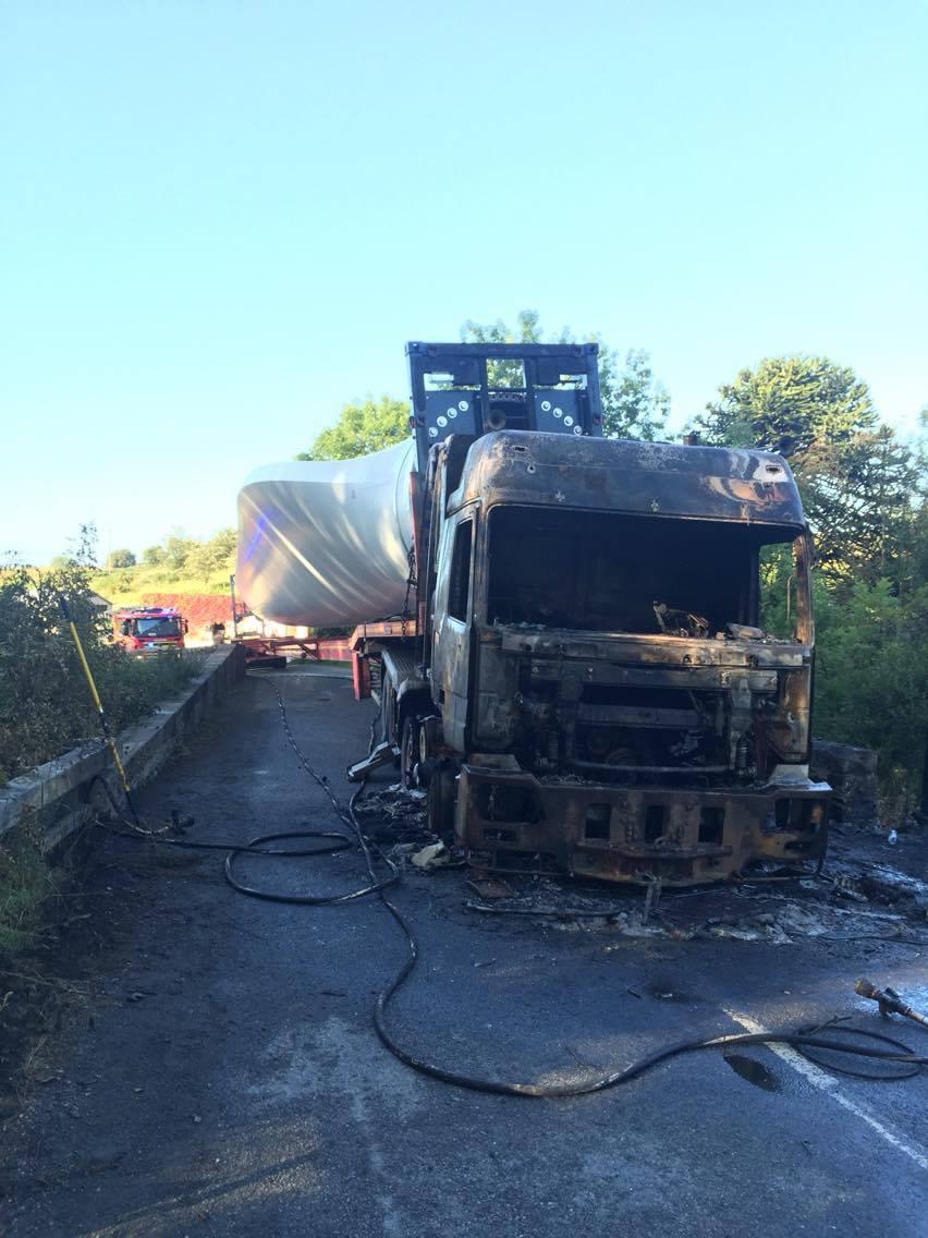 Crews attended HGV fire on Bargrennan Bridge, A714