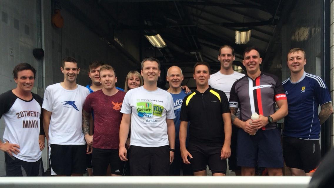 Olympian charity effort by White Watch crews in Aberdeen