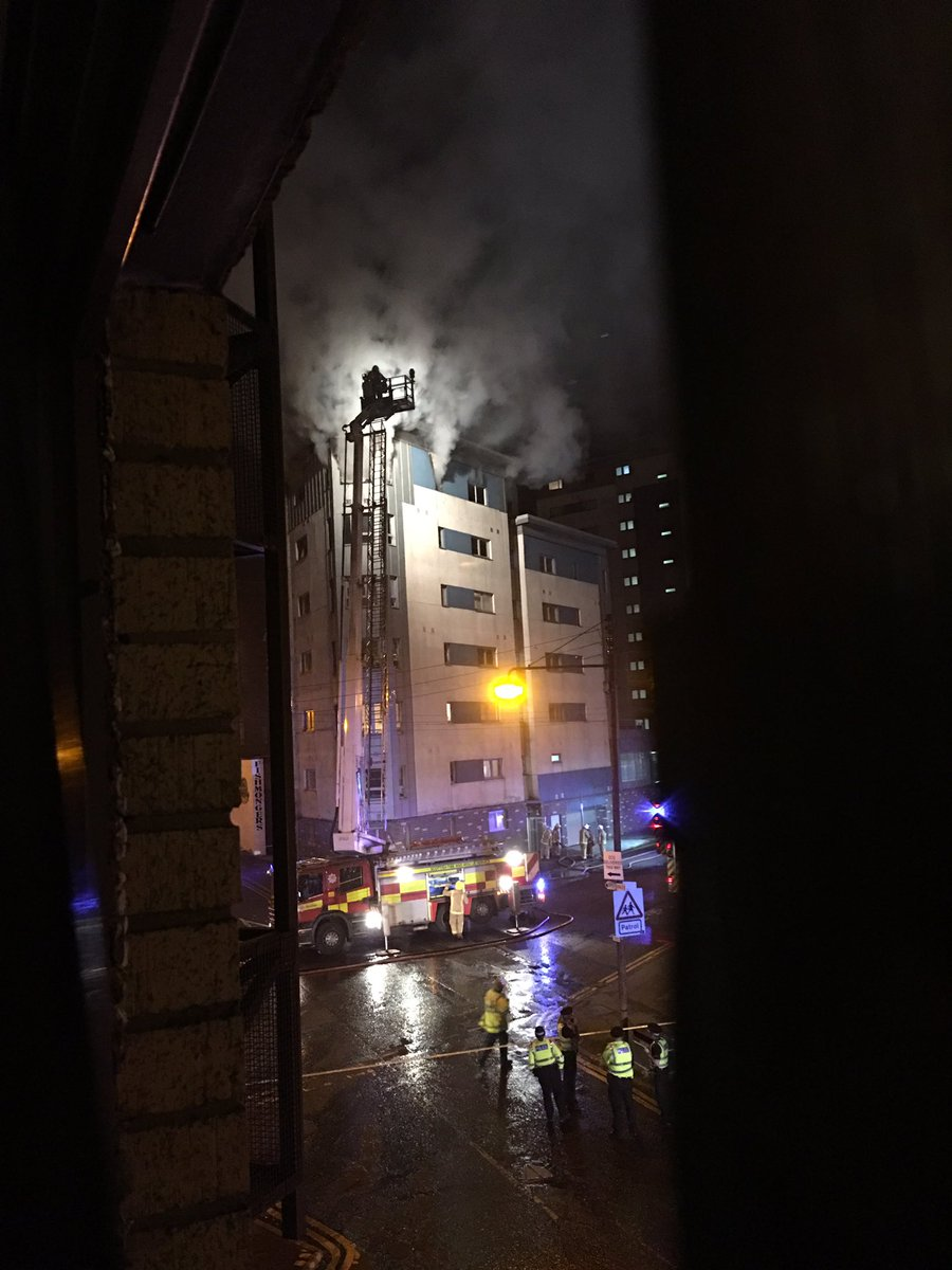 Blaze in Glasgow multi-storey