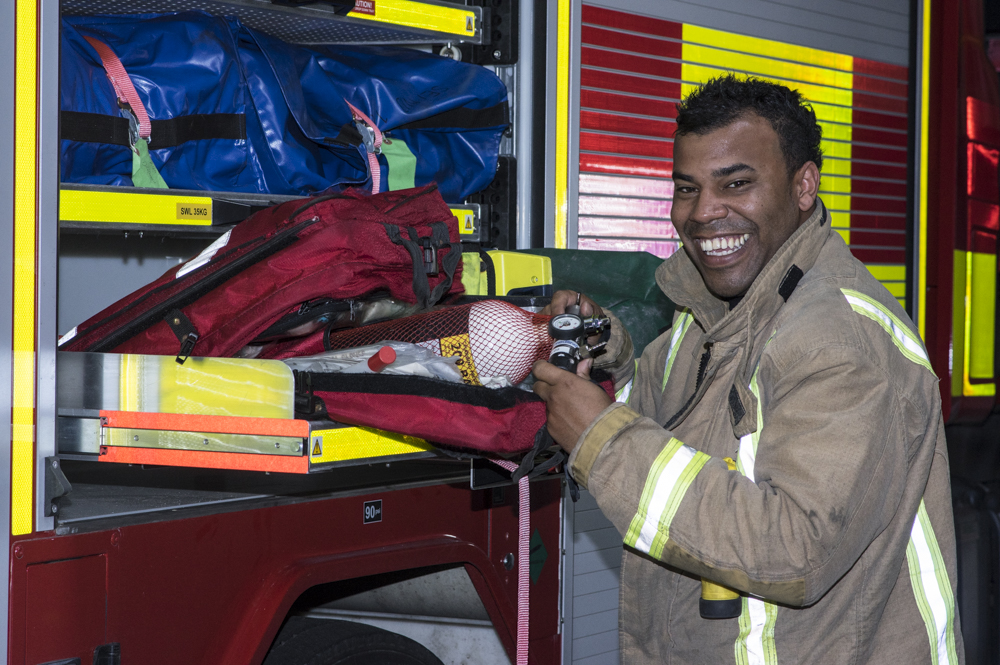 Leroy realises life-long dream to become firefighter