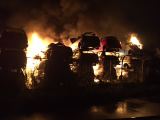 Crews stopped Dundee scrap yard blaze spreading